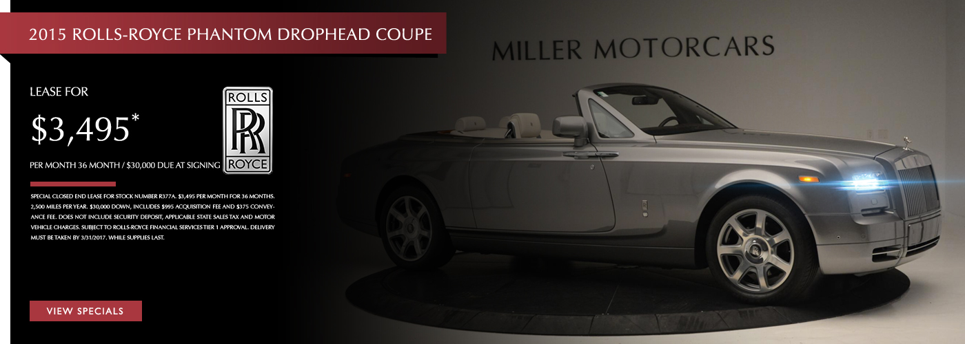 2015 Rolls-Royce Phantom Drophead Coupe Lease Special