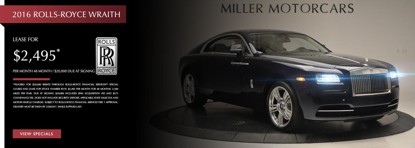 2016 Rolls-Royce Wraith Lease Special