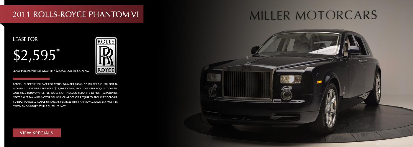 2011 Rolls-Royce Phantom Lease Special