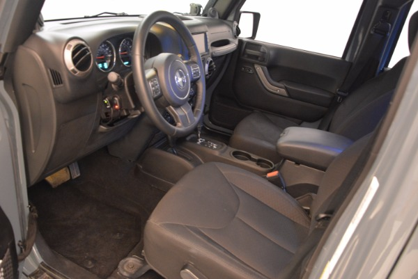 Used 2014 Jeep Wrangler Unlimited Sport for sale Sold at Rolls-Royce Motor Cars Greenwich in Greenwich CT 06830 14