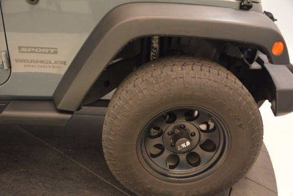 Used 2014 Jeep Wrangler Unlimited Sport for sale Sold at Rolls-Royce Motor Cars Greenwich in Greenwich CT 06830 26