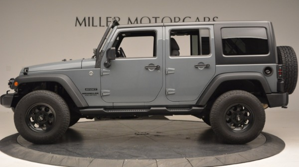 Used 2014 Jeep Wrangler Unlimited Sport for sale Sold at Rolls-Royce Motor Cars Greenwich in Greenwich CT 06830 3
