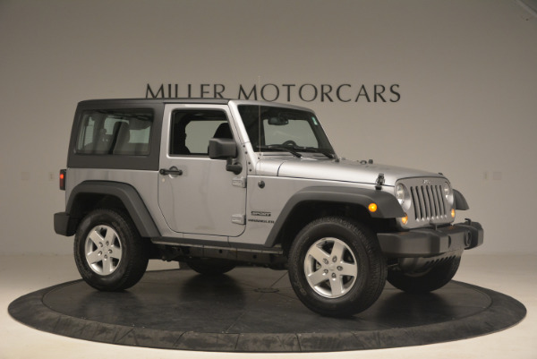 Used 2015 Jeep Wrangler Sport for sale Sold at Rolls-Royce Motor Cars Greenwich in Greenwich CT 06830 10