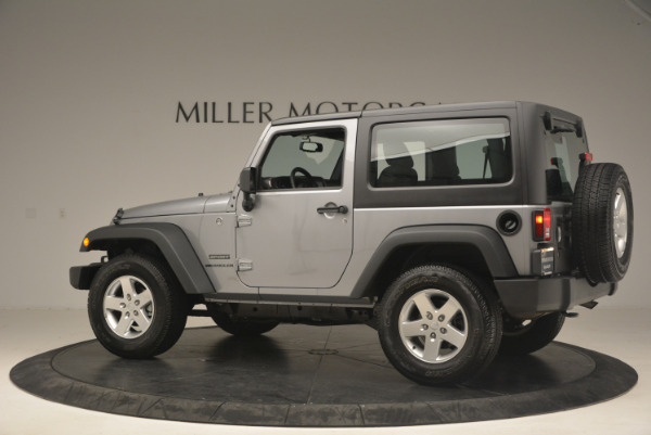 Used 2015 Jeep Wrangler Sport for sale Sold at Rolls-Royce Motor Cars Greenwich in Greenwich CT 06830 4