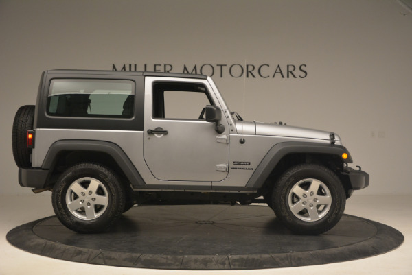 Used 2015 Jeep Wrangler Sport for sale Sold at Rolls-Royce Motor Cars Greenwich in Greenwich CT 06830 9