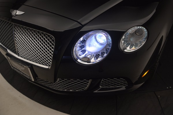 Used 2012 Bentley Continental GT W12 Convertible for sale Sold at Rolls-Royce Motor Cars Greenwich in Greenwich CT 06830 28