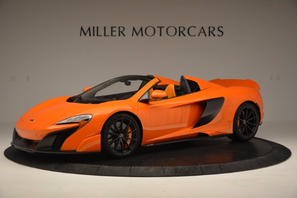 Used 2016 McLaren 675LT Spider Convertible for sale Sold at Rolls-Royce Motor Cars Greenwich in Greenwich CT 06830 1