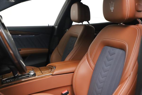 Used 2017 Maserati Quattroporte SQ4 GranLusso/ Zegna for sale $62,900 at Rolls-Royce Motor Cars Greenwich in Greenwich CT 06830 15