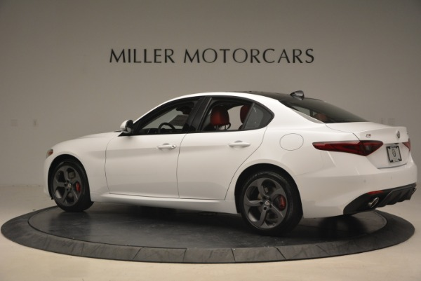 New 2018 Alfa Romeo Giulia Ti Sport Q4 for sale Sold at Rolls-Royce Motor Cars Greenwich in Greenwich CT 06830 5