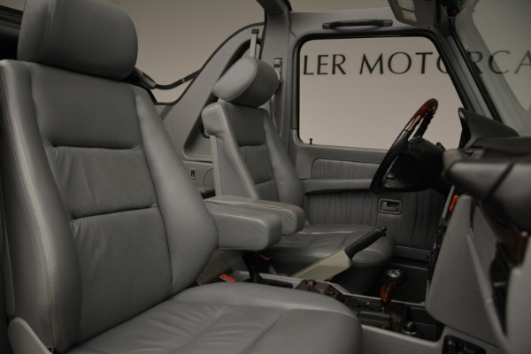 Used 1999 Mercedes Benz G500 Cabriolet for sale Sold at Rolls-Royce Motor Cars Greenwich in Greenwich CT 06830 28