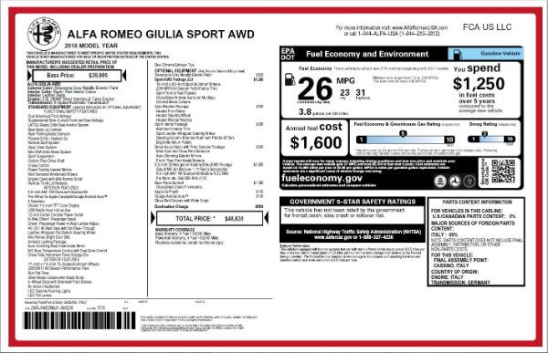 New 2018 Alfa Romeo Giulia Ti Sport Q4 for sale Sold at Rolls-Royce Motor Cars Greenwich in Greenwich CT 06830 26