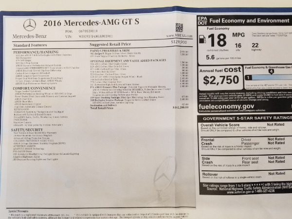 Used 2016 Mercedes-Benz AMG GT S for sale Sold at Rolls-Royce Motor Cars Greenwich in Greenwich CT 06830 25
