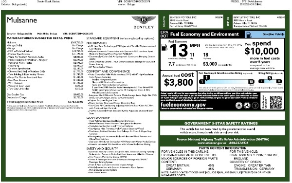 Used 2016 Bentley Mulsanne for sale Sold at Rolls-Royce Motor Cars Greenwich in Greenwich CT 06830 26