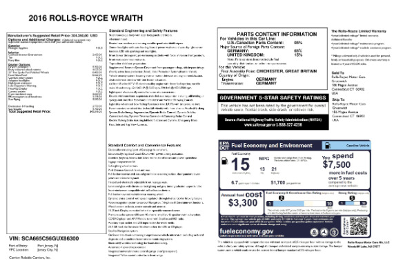 Used 2016 Rolls-Royce Wraith for sale Sold at Rolls-Royce Motor Cars Greenwich in Greenwich CT 06830 24
