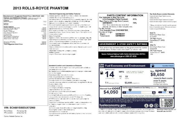 Used 2013 Rolls-Royce Phantom for sale Sold at Rolls-Royce Motor Cars Greenwich in Greenwich CT 06830 24