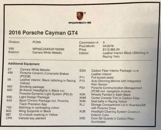 Used 2016 Porsche Cayman GT4 for sale Sold at Rolls-Royce Motor Cars Greenwich in Greenwich CT 06830 23