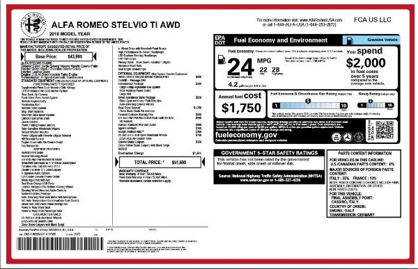 New 2018 Alfa Romeo Stelvio Ti Q4 for sale Sold at Rolls-Royce Motor Cars Greenwich in Greenwich CT 06830 2
