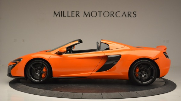 Used 2015 McLaren 650S Spider Convertible for sale Sold at Rolls-Royce Motor Cars Greenwich in Greenwich CT 06830 3