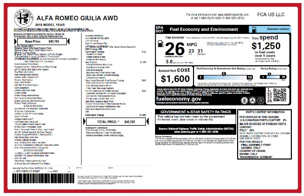 New 2018 Alfa Romeo Giulia Q4 for sale Sold at Rolls-Royce Motor Cars Greenwich in Greenwich CT 06830 26