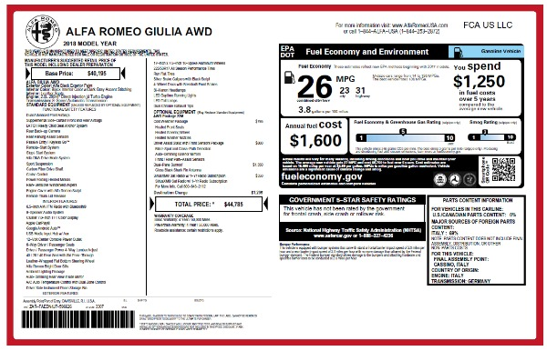 New 2018 Alfa Romeo Giulia Q4 for sale Sold at Rolls-Royce Motor Cars Greenwich in Greenwich CT 06830 22