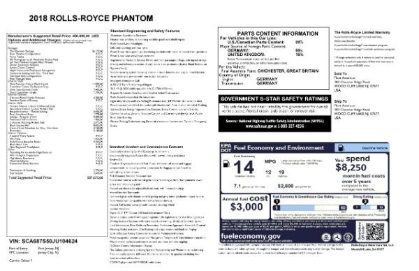New 2018 Rolls-Royce Phantom for sale Sold at Rolls-Royce Motor Cars Greenwich in Greenwich CT 06830 7