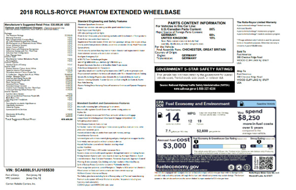 New 2018 Rolls-Royce Phantom EWB for sale Sold at Rolls-Royce Motor Cars Greenwich in Greenwich CT 06830 7