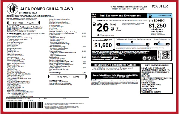 New 2018 Alfa Romeo Giulia Ti Q4 for sale Sold at Rolls-Royce Motor Cars Greenwich in Greenwich CT 06830 26