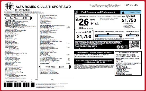 New 2019 Alfa Romeo Giulia Ti Sport Q4 for sale Sold at Rolls-Royce Motor Cars Greenwich in Greenwich CT 06830 26