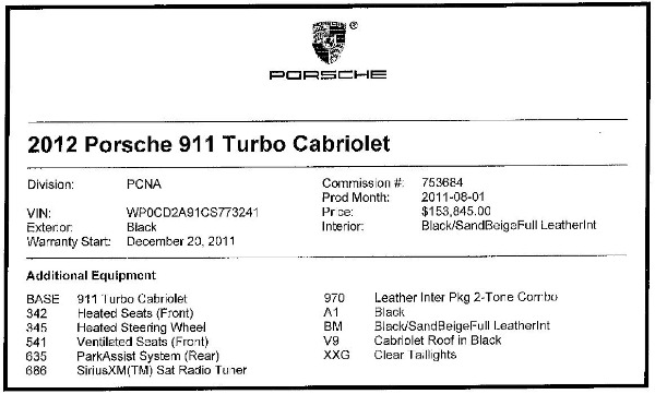 Used 2012 Porsche 911 Turbo for sale Sold at Rolls-Royce Motor Cars Greenwich in Greenwich CT 06830 28