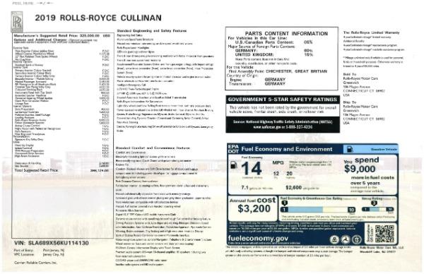 New 2019 Rolls-Royce Cullinan for sale Sold at Rolls-Royce Motor Cars Greenwich in Greenwich CT 06830 28