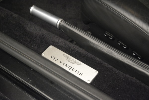 Used 2004 Aston Martin V12 Vanquish for sale Sold at Rolls-Royce Motor Cars Greenwich in Greenwich CT 06830 19