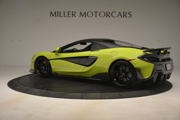 New 2020 McLaren 600LT SPIDER Convertible for sale $281,570 at Rolls-Royce Motor Cars Greenwich in Greenwich CT 06830 4