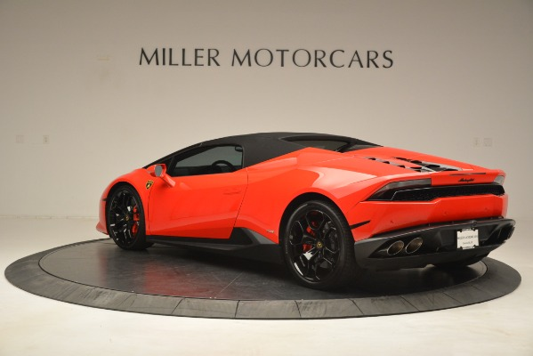 Used 2017 Lamborghini Huracan LP 610-4 Spyder for sale Sold at Rolls-Royce Motor Cars Greenwich in Greenwich CT 06830 12