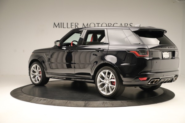 Used 2019 Land Rover Range Rover Sport SVR for sale Sold at Rolls-Royce Motor Cars Greenwich in Greenwich CT 06830 4