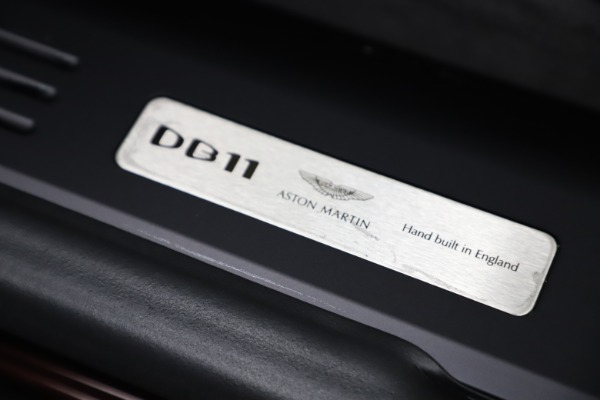 Used 2020 Aston Martin DB11 Volante Convertible for sale Sold at Rolls-Royce Motor Cars Greenwich in Greenwich CT 06830 26