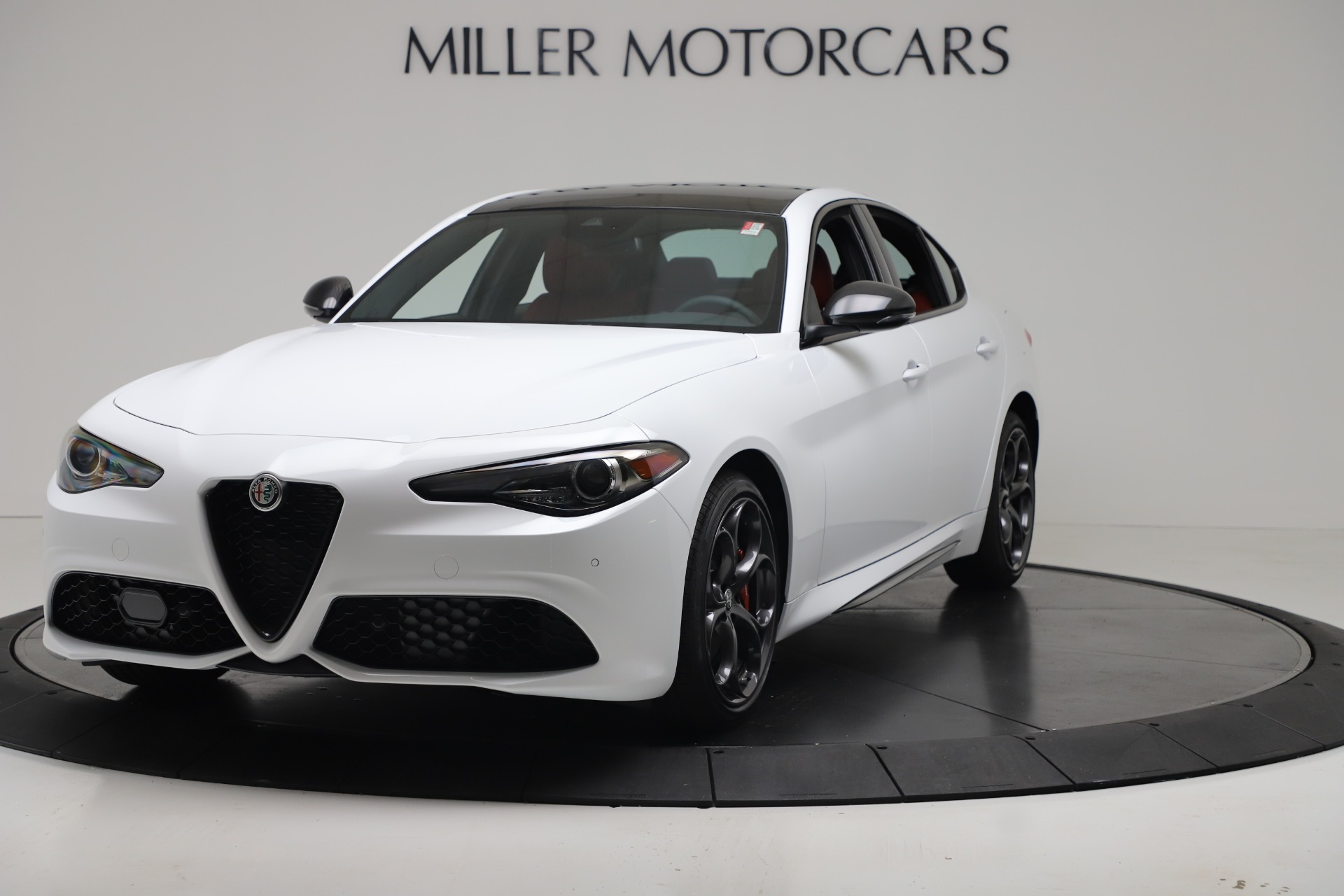New 2019 Alfa Romeo Giulia Ti Sport Carbon Q4 for sale Sold at Rolls-Royce Motor Cars Greenwich in Greenwich CT 06830 1