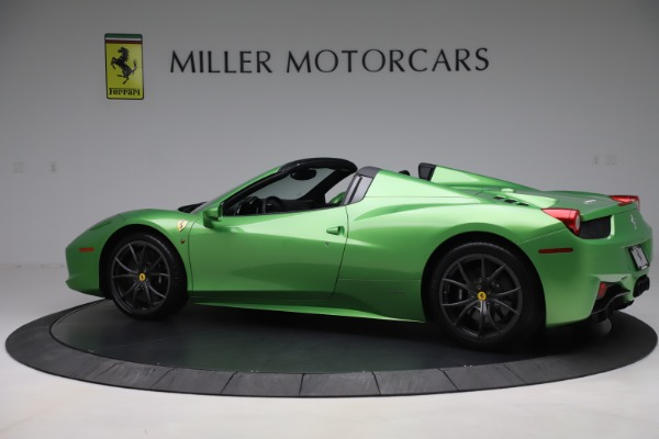 Used 2015 Ferrari 458 Spider for sale $249,900 at Rolls-Royce Motor Cars Greenwich in Greenwich CT 06830 4