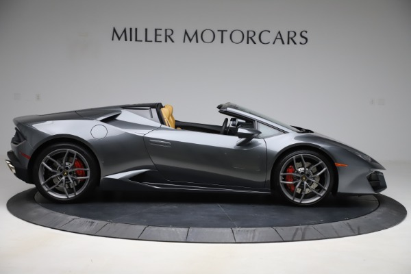 Used 2018 Lamborghini Huracan LP 580-2 Spyder for sale Call for price at Rolls-Royce Motor Cars Greenwich in Greenwich CT 06830 10