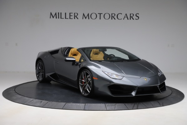 Used 2018 Lamborghini Huracan LP 580-2 Spyder for sale Call for price at Rolls-Royce Motor Cars Greenwich in Greenwich CT 06830 12
