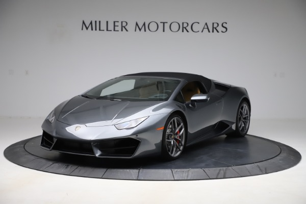Used 2018 Lamborghini Huracan LP 580-2 Spyder for sale Call for price at Rolls-Royce Motor Cars Greenwich in Greenwich CT 06830 13