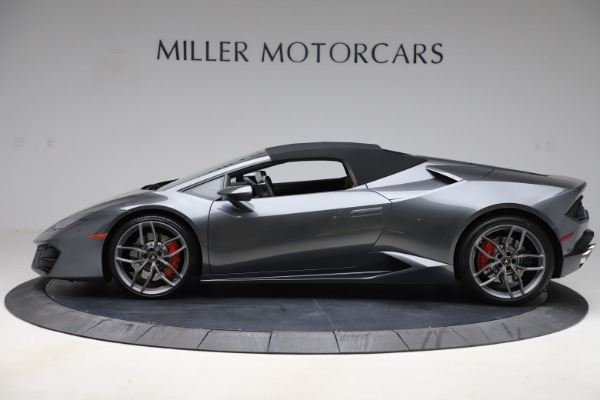 Used 2018 Lamborghini Huracan LP 580-2 Spyder for sale Call for price at Rolls-Royce Motor Cars Greenwich in Greenwich CT 06830 14