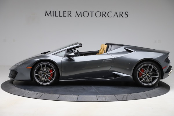 Used 2018 Lamborghini Huracan LP 580-2 Spyder for sale Call for price at Rolls-Royce Motor Cars Greenwich in Greenwich CT 06830 3