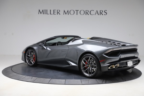 Used 2018 Lamborghini Huracan LP 580-2 Spyder for sale Call for price at Rolls-Royce Motor Cars Greenwich in Greenwich CT 06830 4