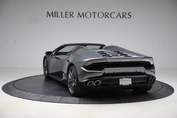 Used 2018 Lamborghini Huracan LP 580-2 Spyder for sale Call for price at Rolls-Royce Motor Cars Greenwich in Greenwich CT 06830 5
