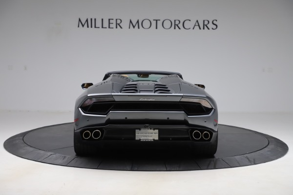 Used 2018 Lamborghini Huracan LP 580-2 Spyder for sale Call for price at Rolls-Royce Motor Cars Greenwich in Greenwich CT 06830 6