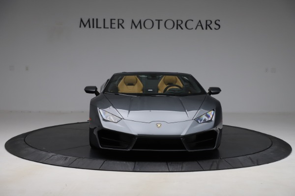 Used 2018 Lamborghini Huracan LP 580-2 Spyder for sale Call for price at Rolls-Royce Motor Cars Greenwich in Greenwich CT 06830 7