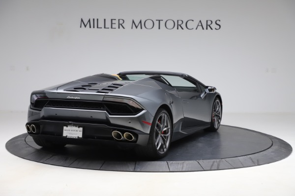 Used 2018 Lamborghini Huracan LP 580-2 Spyder for sale Call for price at Rolls-Royce Motor Cars Greenwich in Greenwich CT 06830 8