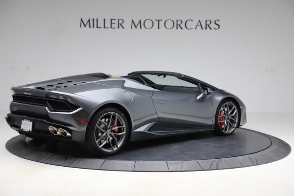 Used 2018 Lamborghini Huracan LP 580-2 Spyder for sale Call for price at Rolls-Royce Motor Cars Greenwich in Greenwich CT 06830 9