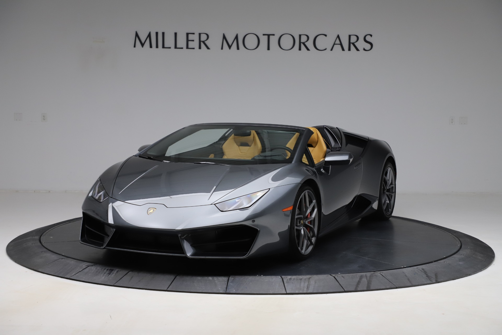 Used 2018 Lamborghini Huracan LP 580-2 Spyder for sale Call for price at Rolls-Royce Motor Cars Greenwich in Greenwich CT 06830 1