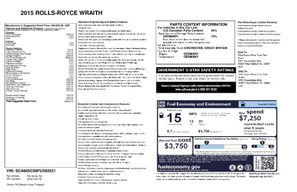 Used 2015 Rolls-Royce Wraith for sale $169,900 at Rolls-Royce Motor Cars Greenwich in Greenwich CT 06830 28
